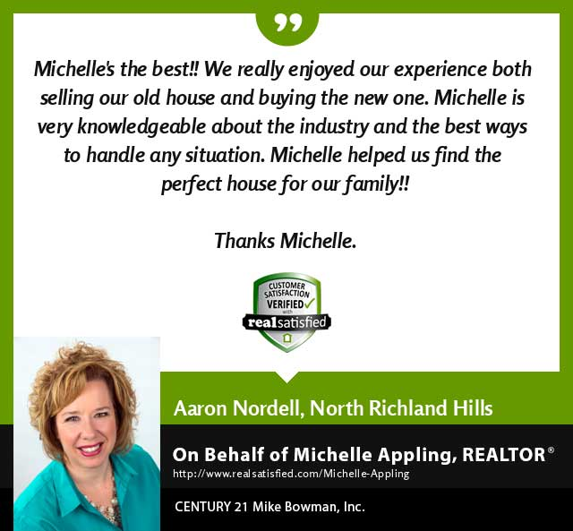 Michelle Appling Real Estate Realtor testimonial