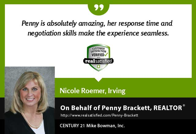 Penny Brackett Real Estate Realtor testimonial