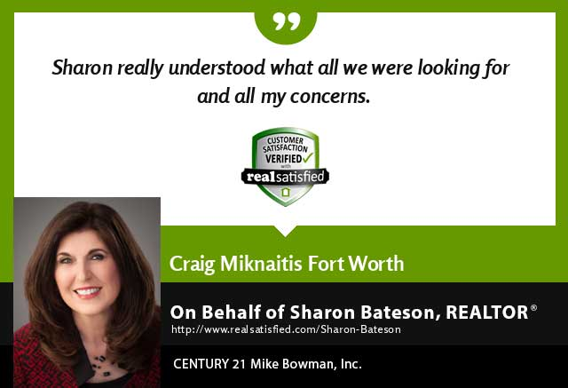 Sharon Bateson Real Estate Realtor testimonial