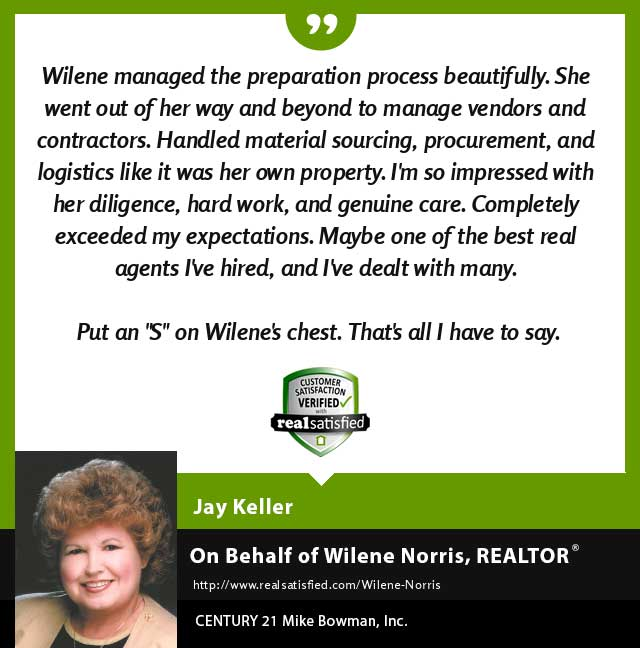 Wilene Norris Real Estate Realtor testimonial